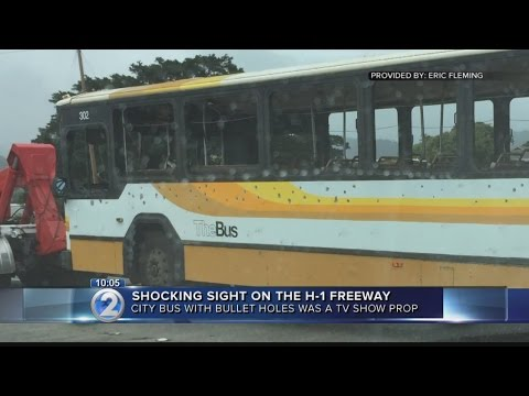 Drivers startled by city bus riddled with bullets