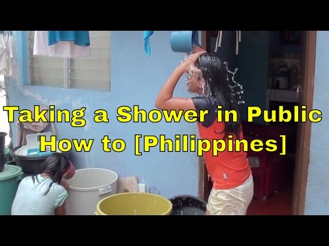 BEAUTIFUL FILIPINA BATHINGHow to Shower in Public (Philippines)