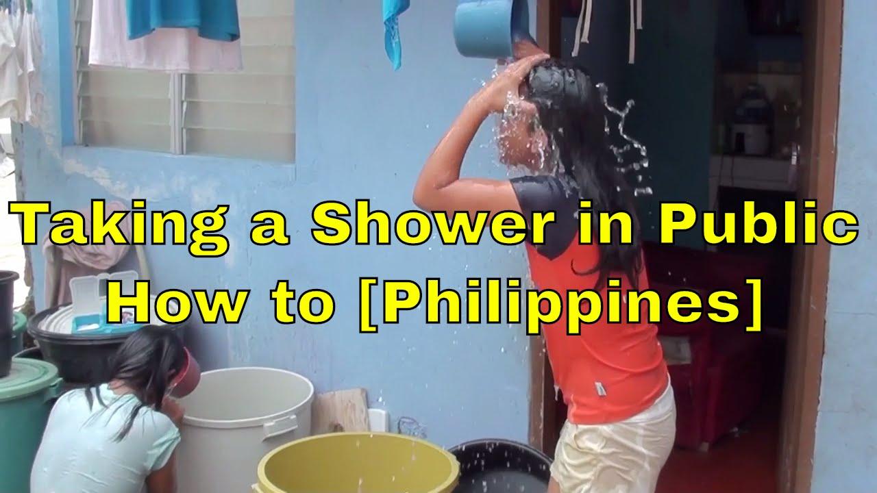 Public shower video