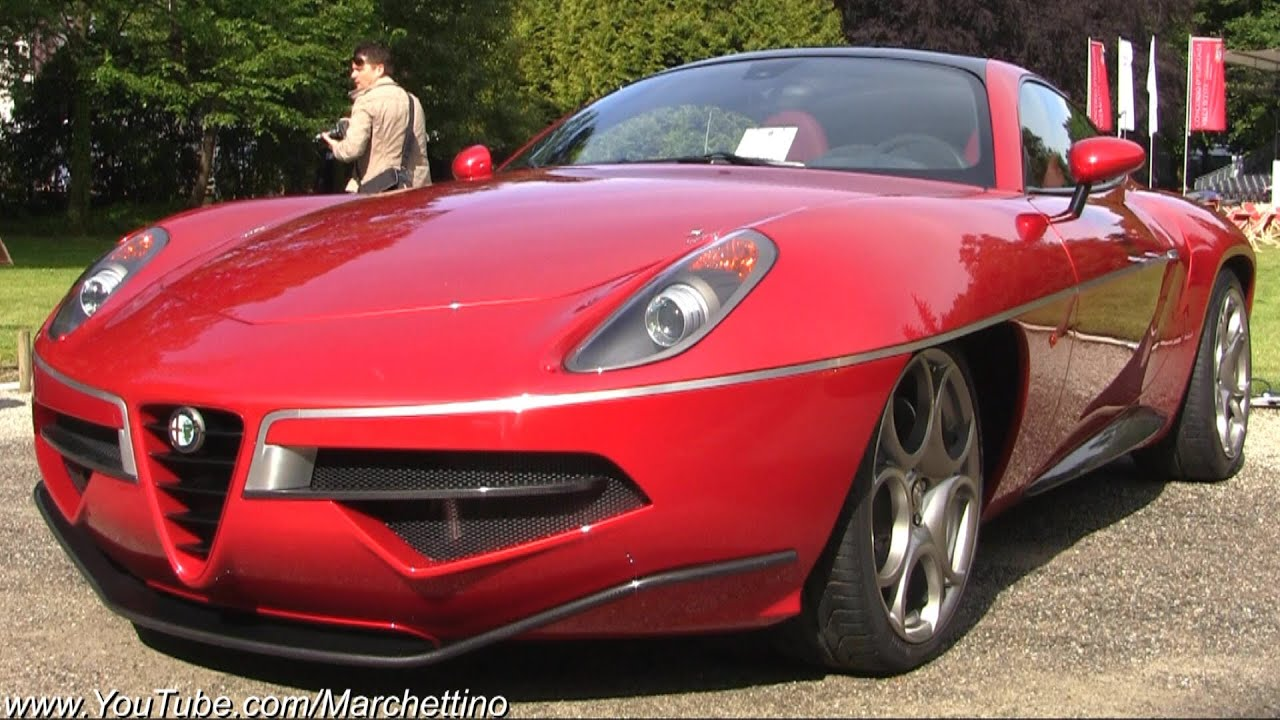Alfa Romeo 8C Disco Volante Loud Revs And Sound!