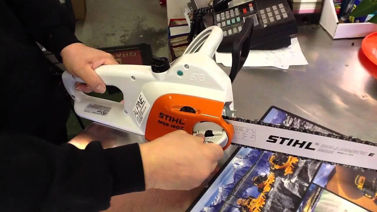 stihl mse 140 c-bq electric chainsaw toronto, ontario - youtube