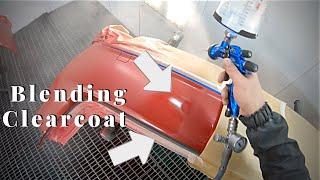 Painting car / Clear coat blending   Покраска авто / Переход по лаку