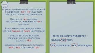 Русский язык 7 класс. Степени сравнений наречий