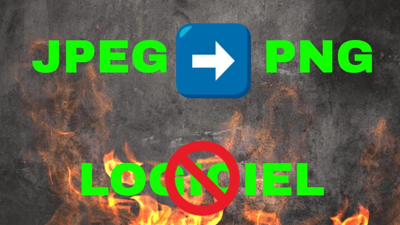 Convertir Facilement Une Image Jpeg En Image Png Sans Logiciel Youtube