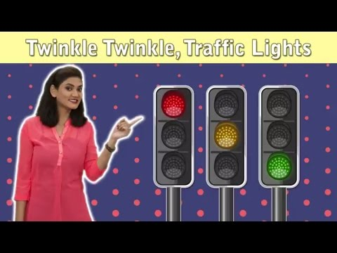 Traffic Lights Song For Children | Twinkle Traffic Lights With Actions | Traffic Signal For Kids