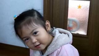 2years old baby singing come holy spirit
