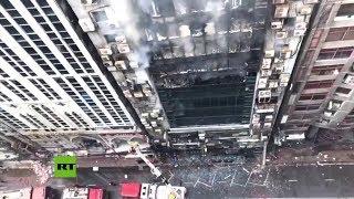 Se registra un incendio en un rascacielos de 19 pisos en la capital de Bangladés