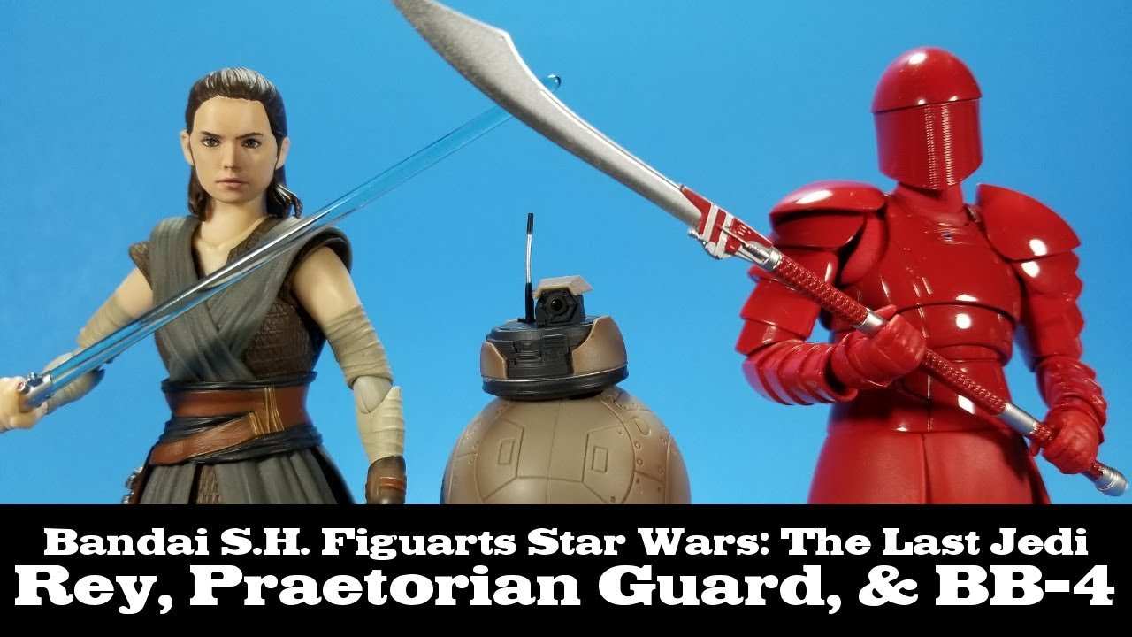 S.H.Figuarts Star Wars THE LAST JEDI REY /& ELITE PRAETORIAN GUARD /& BB-4 BANDAI