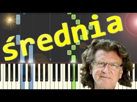 Zacznij od Bacha (Zbigniew Wodecki) - Piano Tutorial (średnia wersja)