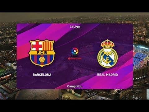 PES 2020 | BARCELONA vs REAL MADRID | EL CLASICO | Match Gameplay
