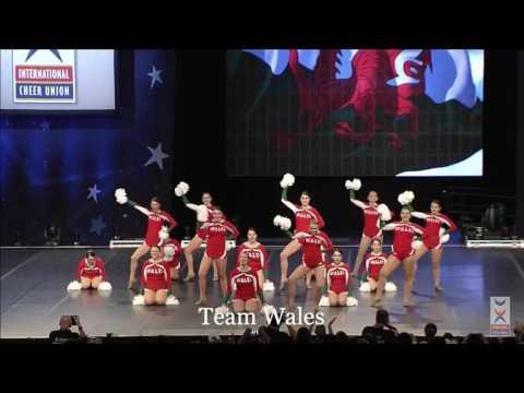 Welsh cheerleading team's gold medal winning performance