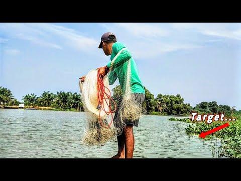 Download Jala ikan~Menjala ikan di sungai pakai perahu