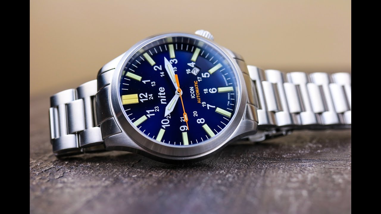 4592cc5c79f8 Nite Watches Icon Automatic-Blue Dial Beauty With Tritium Tubes ...