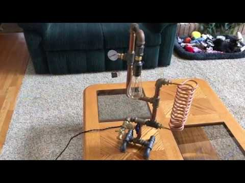 DIY Steampunk Style Table Lamp with Water Valve Switch