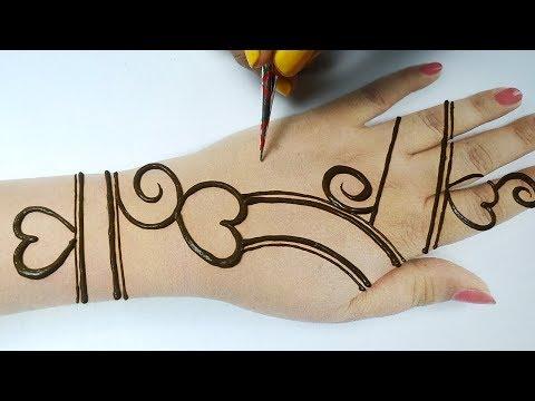 New Arabic Mehndi trick - Easy Beautiful Mehndi Step by Step- Stylish Mehndi Design | BeautyZing