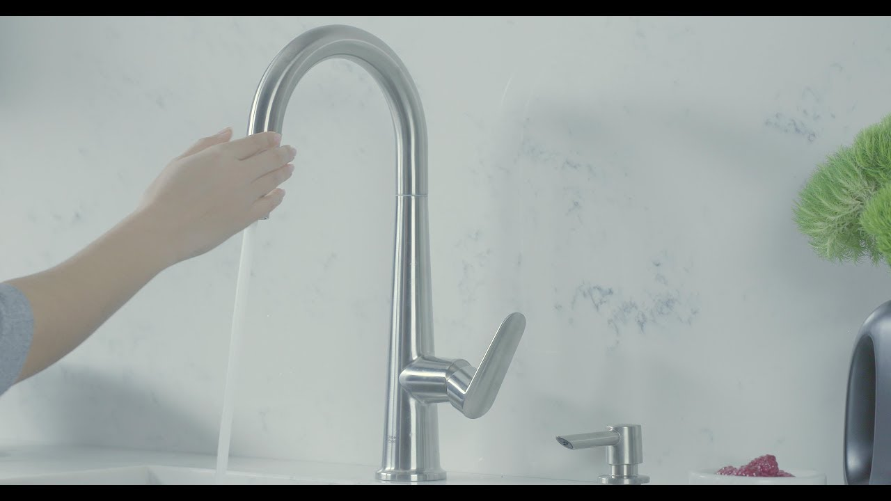 Grohe Veletto Pull Down Kitchen Faucet Product Video Youtube