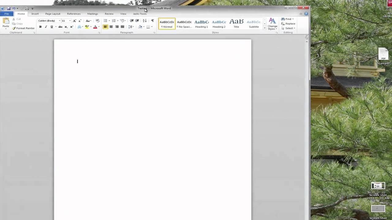 Microsoft Word 2010 Menu Layouts YouTube
