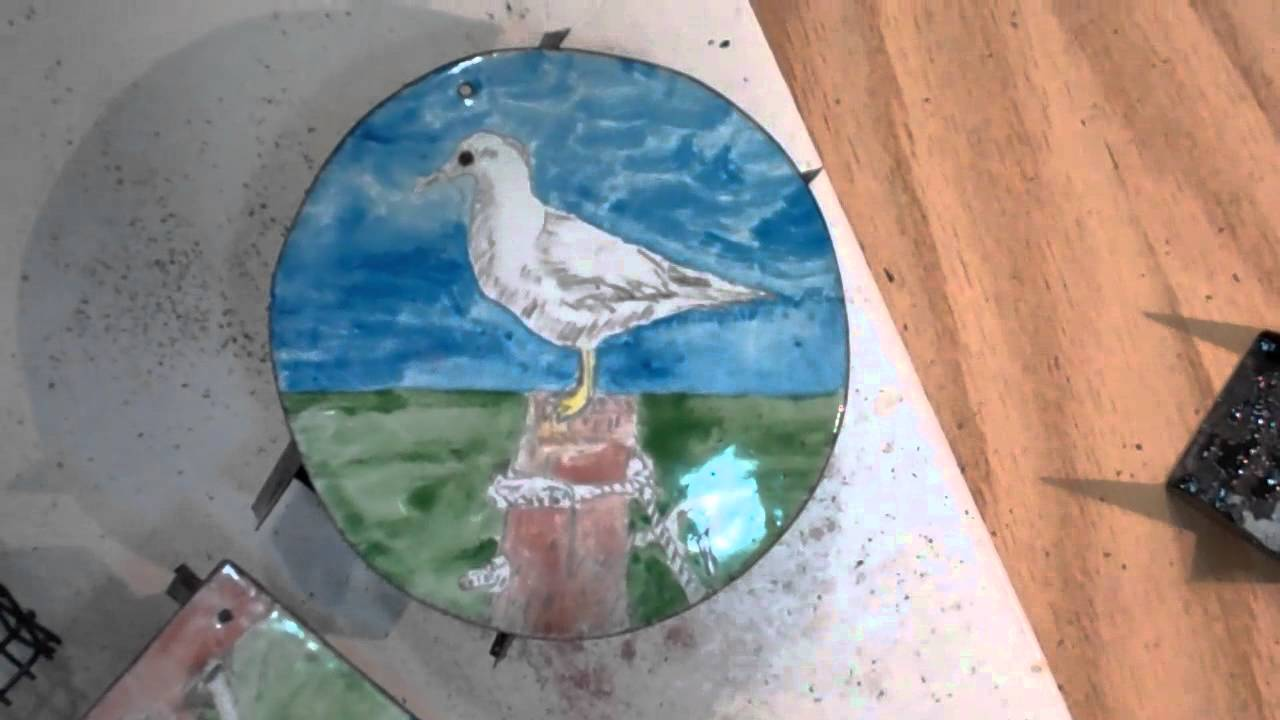 Enamel Piece Using Watercolor Enamel Youtube