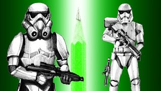 Star Wars Stormtrooper - Imperial VS New Order - pencil drawing comparison