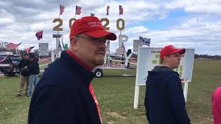 Thousands of Trump supporters gather for rally in Washington Township