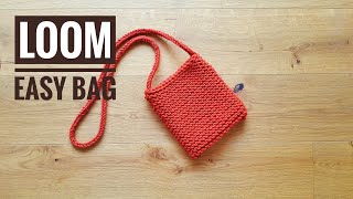 How to Loom Knit an Easy Bag (DIY Tutorial)