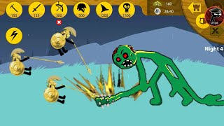 GOLDEN SPEARTON VS ZOMBIE ARMY! STICK WAR LEGACY