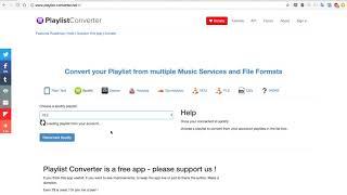 Playlist Converter short demo