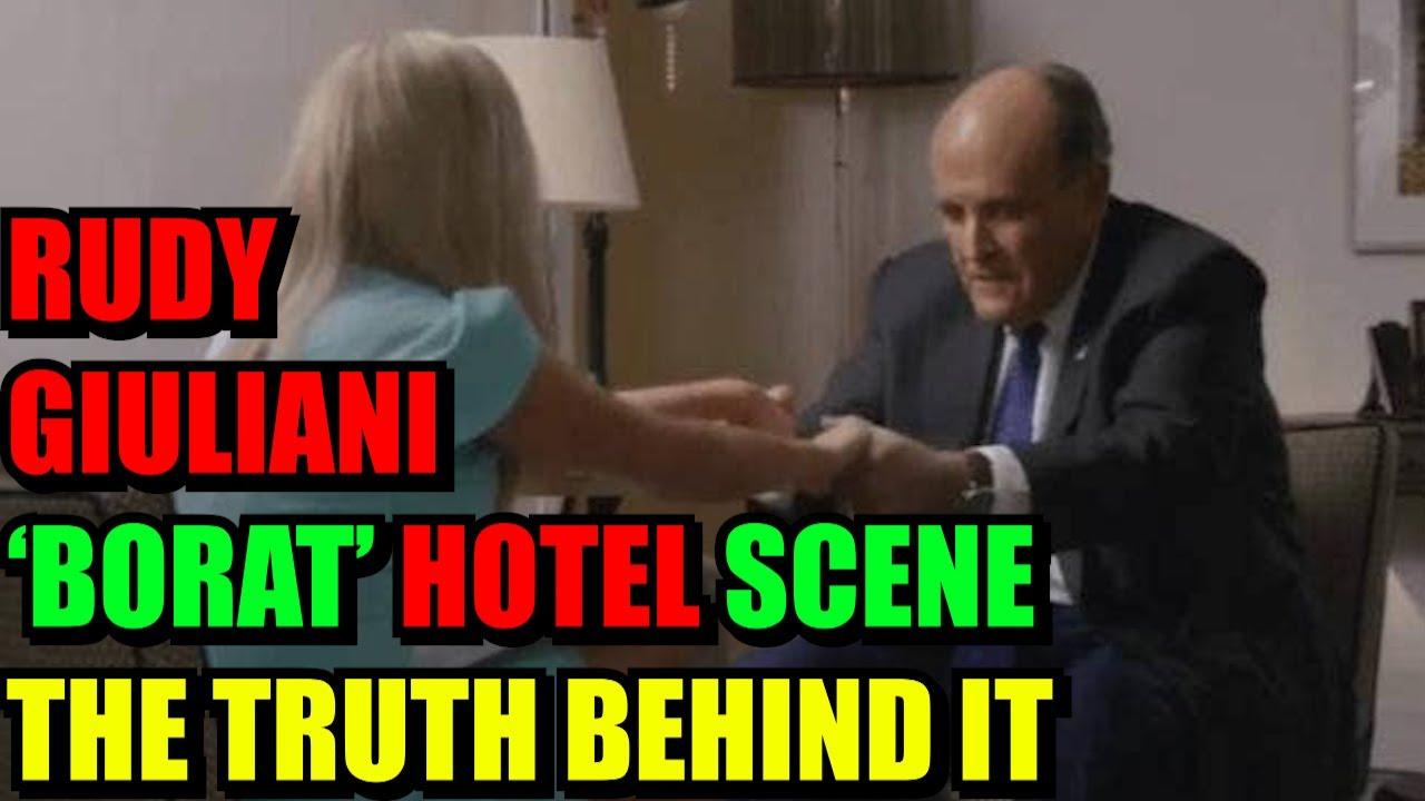 EXPLAINED! Rudy Giuliani hotel bedroom scene in new 'Borat', Rudy Giuliani the truth behind it