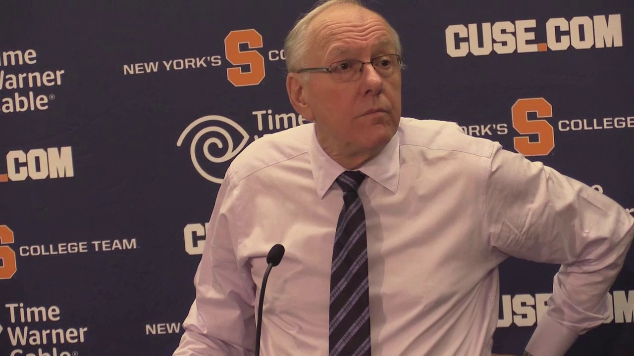 Syracuse Basketball Coach Jim Boeheim Talks About Win Over Colgate