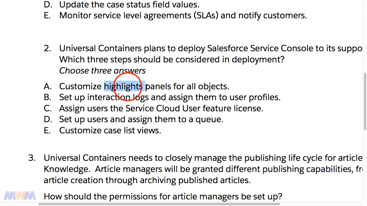 Salesforce Service Cloud Certification Choice Image - Free