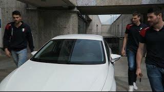 Giannelli, Lanza e Solé, test drive Seat Leon FR per Dorigoni Auto