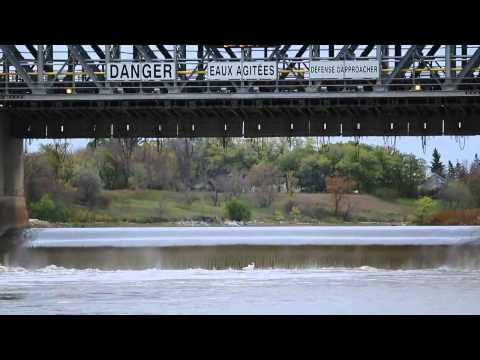 Fishing the Red River in Selkirk, Manitoba, Canada