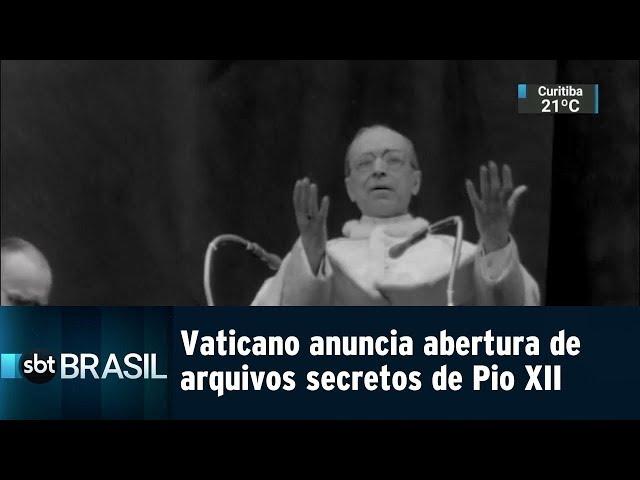 Vaticano anuncia abertura de arquivos secretos de Pio XII | SBT Brasil (04/03/19)