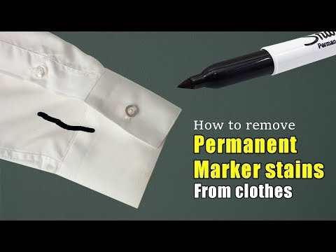 How to remove permanent marker stains from clothes   Truly effective method