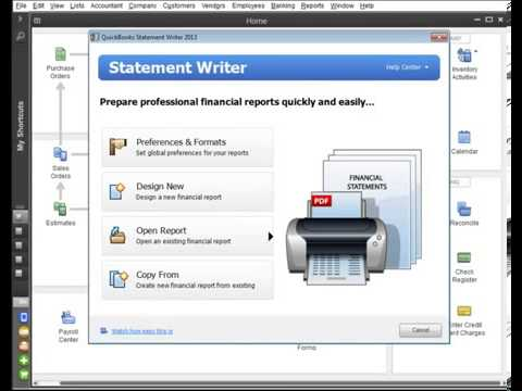 quickbooks enterprise report writer