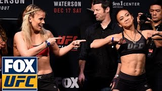 Paige Vanzant And Michelle Waterson Have A Dance-off At Their Weigh-in   Ufc On Fox