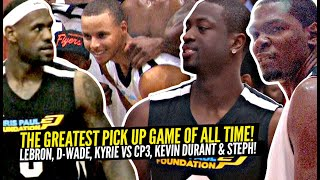 LeBron James & Dwyane Wade vs Kevin Durant & Steph Curry In The GREATEST Pick Up Game Of ALL TIME!