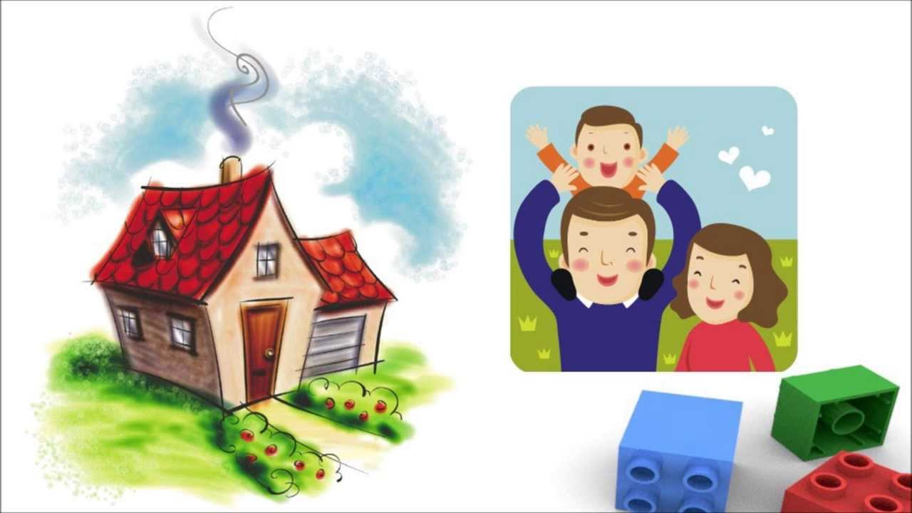 Our Home Theme For Kindergarten Kids Flash Cards For Preschool - Type of house for kids