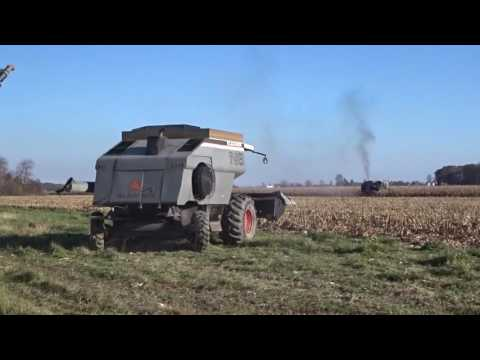 Two Gleaner N6 Combines Harvest 2016