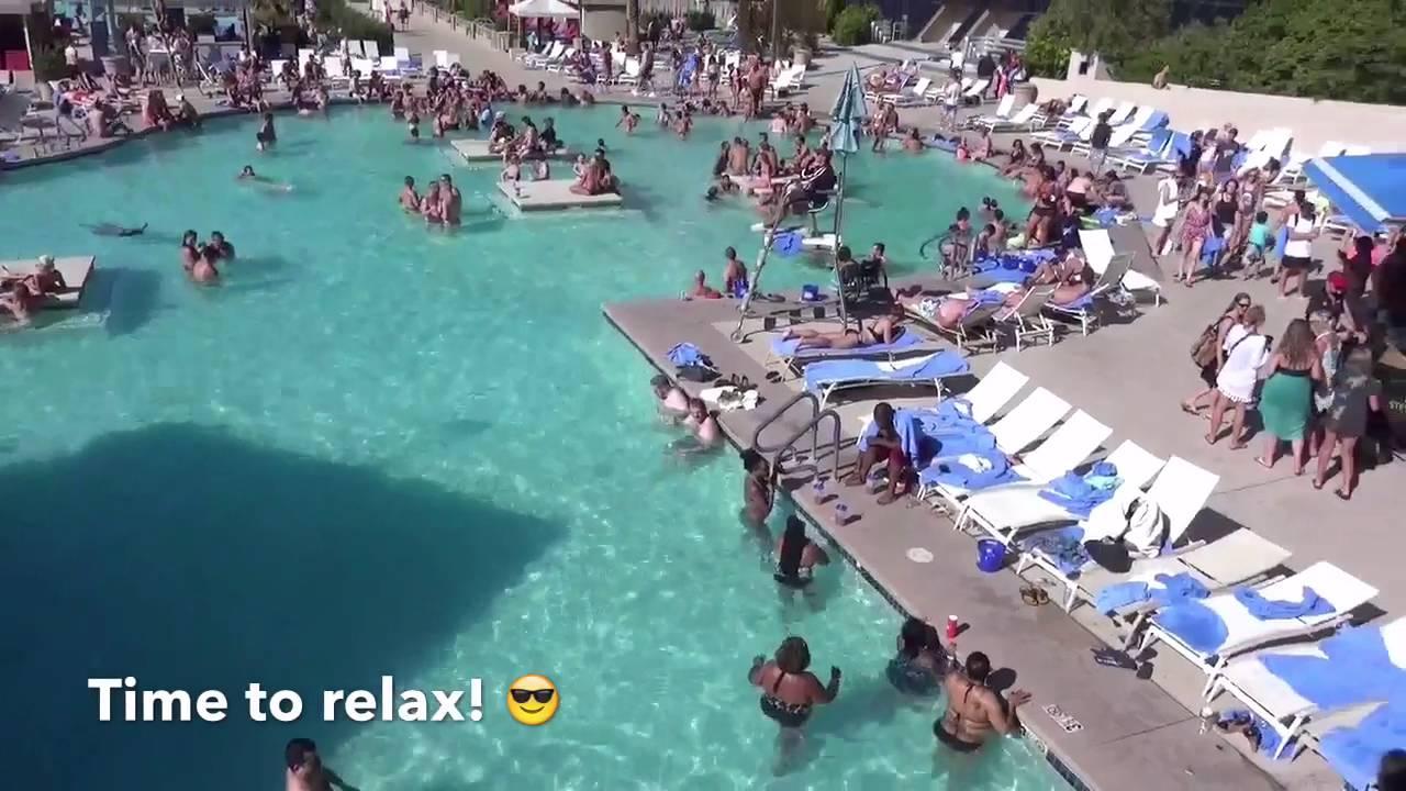Luxor swimming pool youtube for Excalibur las vegas swimming pool
