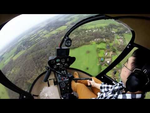 Robinson R22 Helicopter Flight GoPro Hero 3+