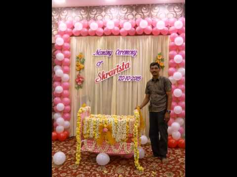 Naming ceremony decoration by madurai decorators call for Baby name ceremony decoration
