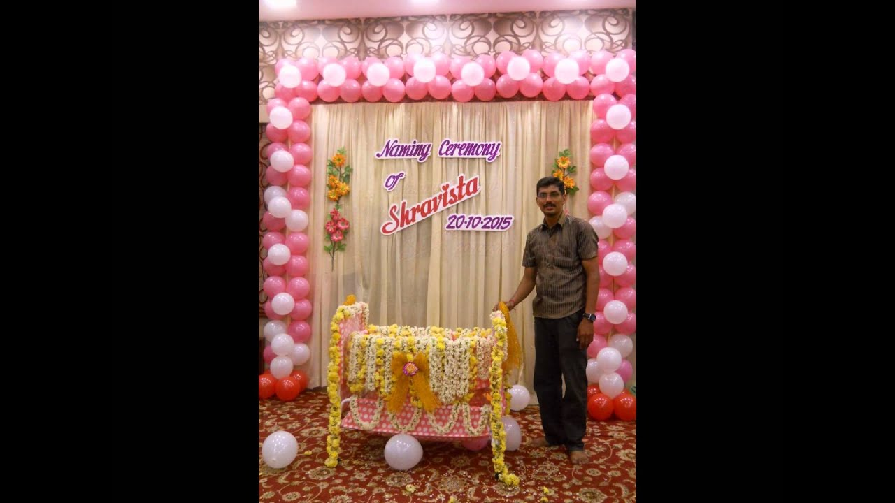Naming ceremony decoration by madurai decorators call for Baby name decoration