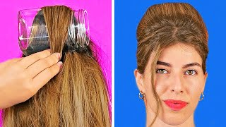 Cool Hairstyles And Hair Hacks || Hair Hacks And Tips Every Girl Should Know