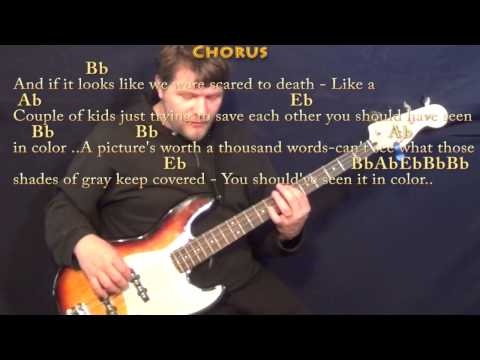 In Color (Jamey Johnson) Bass Guitar Cover Lesson with Chords/Lyrics
