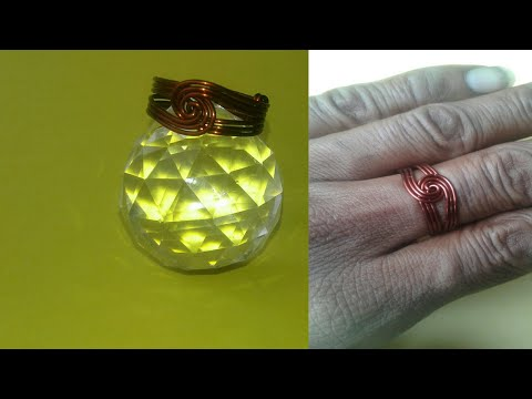 Twisted Round Ring Make With Copper Wire Made By Chef Pawankumar