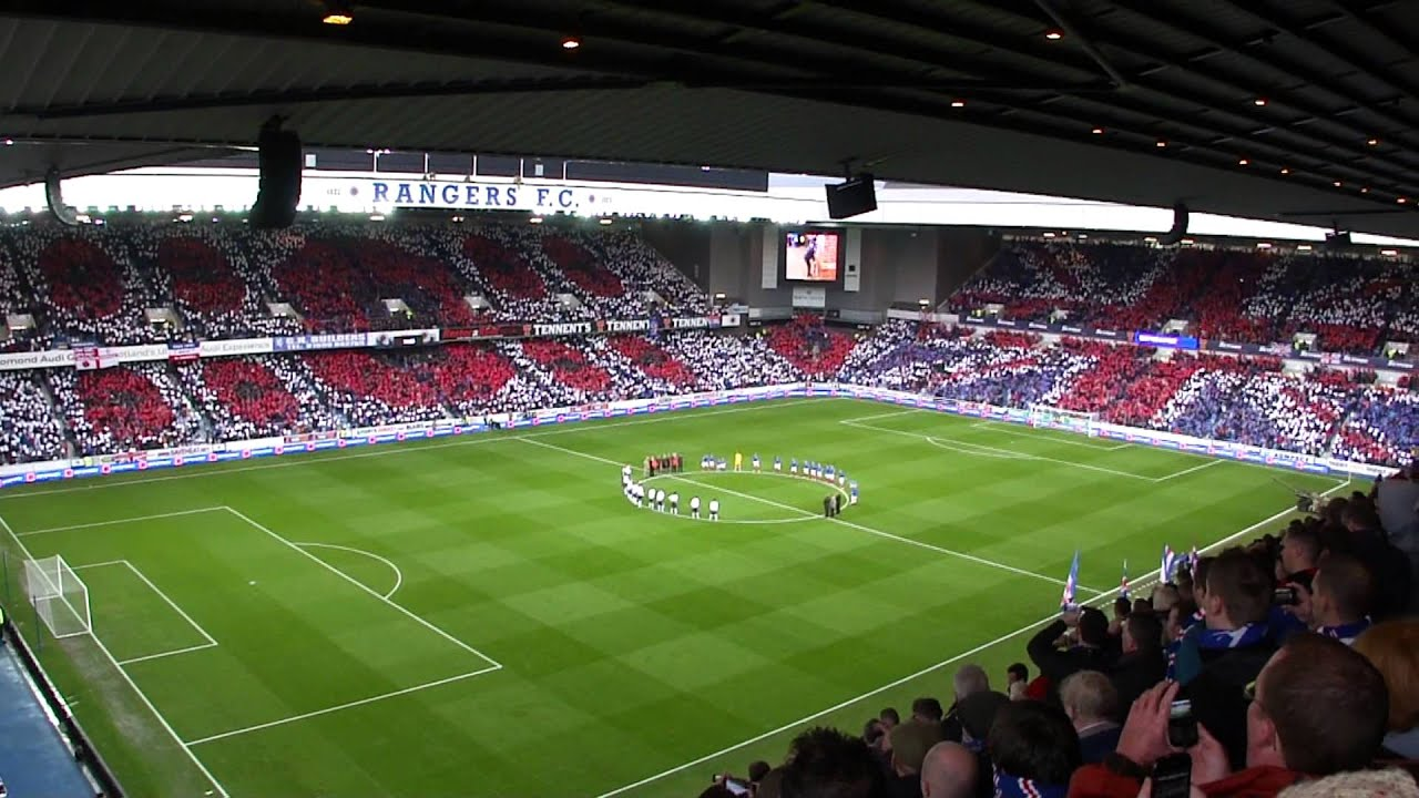 Rangers V Peterhead Poppy Display 10 11 12 Youtube