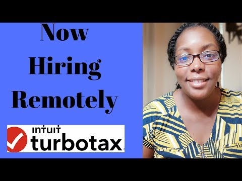 Intuit Turbo Tax Now Hiring Remotely