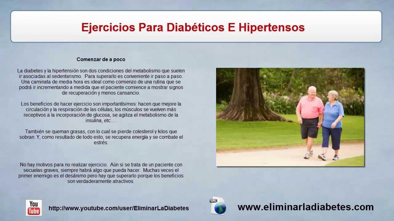 Ejercicio Para Diabeticos E Hipertensos | Tratamiento