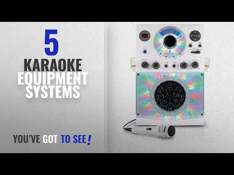 Top 10 Karaoke Equipment Systems [2018]: Singing Machine SML385BTW Top Loading CDG Karaoke System